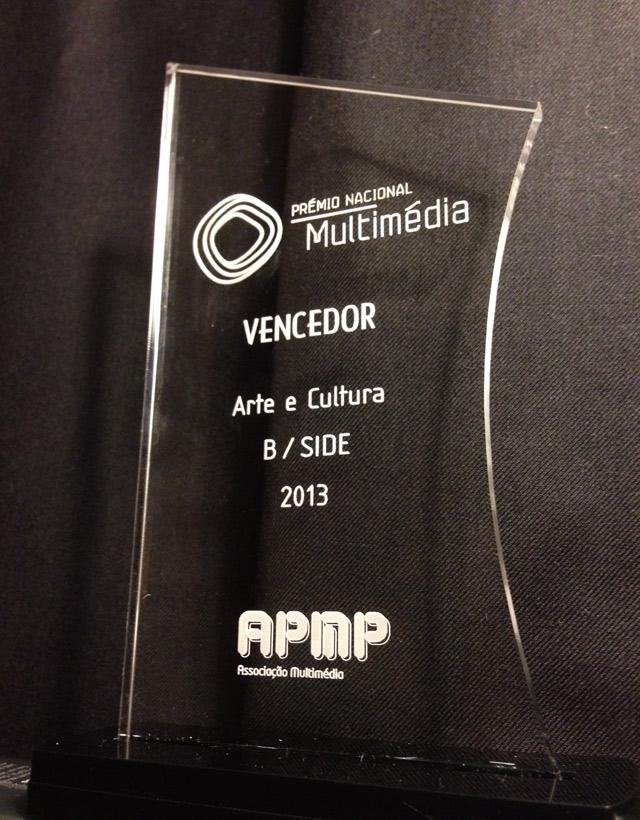 João Martinho Moura won the Multimedia National Prize: Art and Culture 2013